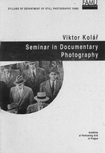 Seminar in Documentary Photography